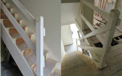 Old ranch style staircase in Cheadle modernised