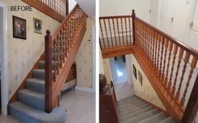 Staircase in Appleton, Warrington gets a full makeover