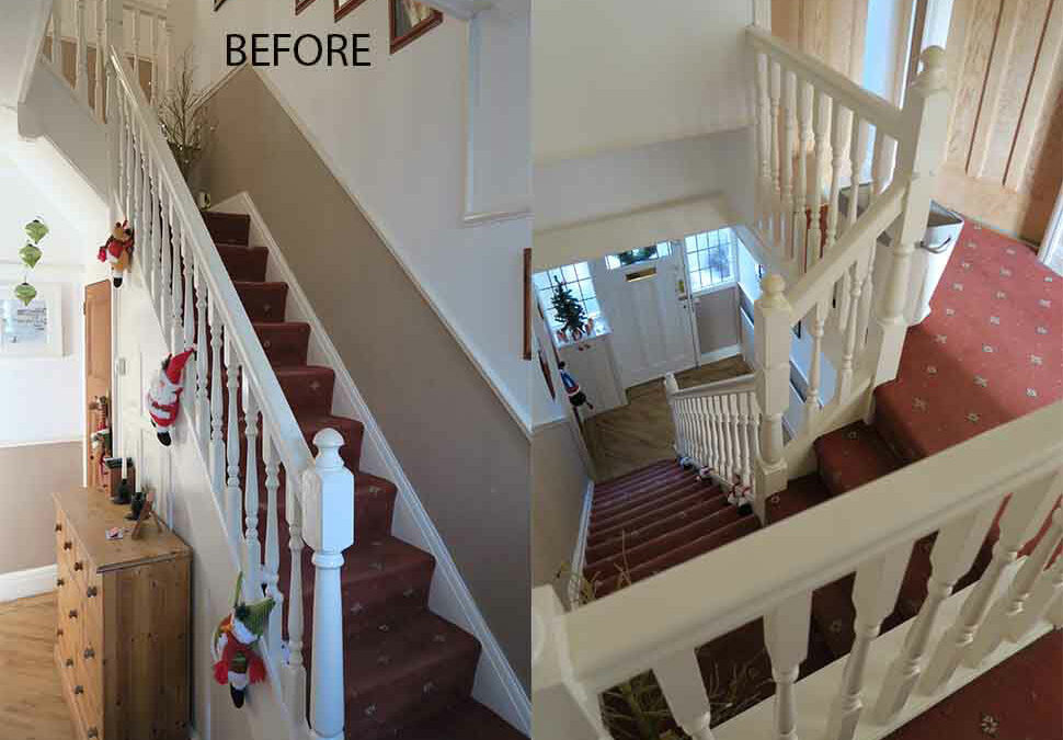 Staircase renovation in Urmston, Manchester
