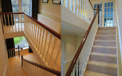 Stunning oak and glass staircase in Bramhall, Stockport