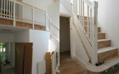 Glass staircase renovation in Manchester