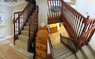 Lighten and brighten by renovating your old dark dated staircase