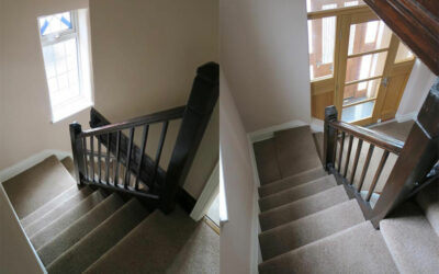 Oak spindle staircase renovation in Didsbury, Manchester