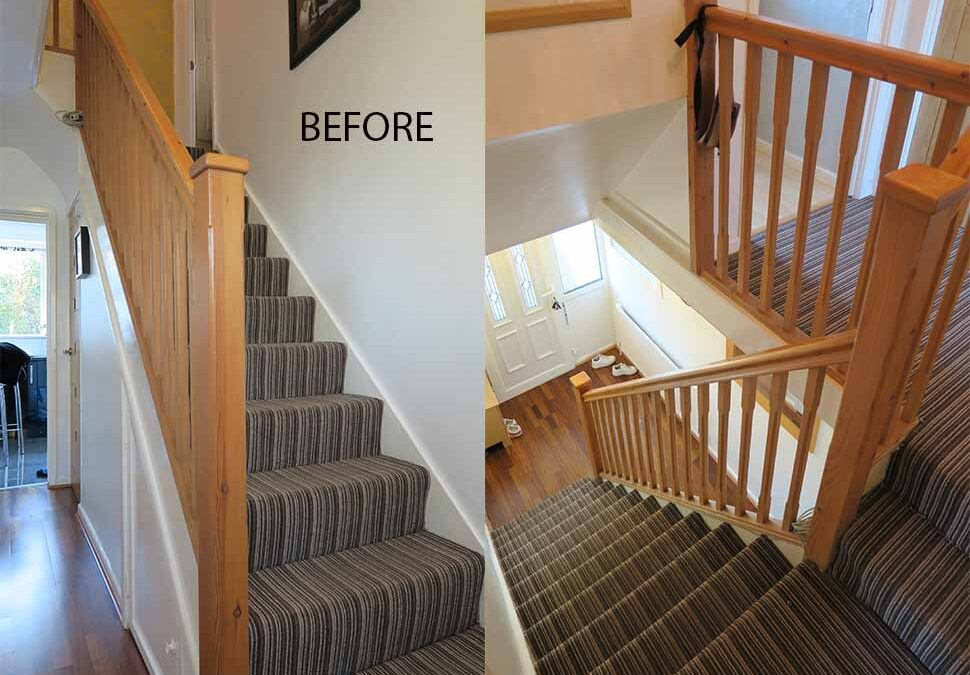 Contemporary Oak and Glass staircase renovation