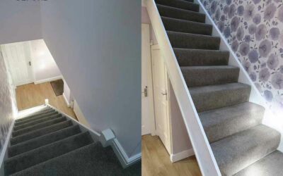 A straight flight staircase transformed in Altrincham, Cheshire