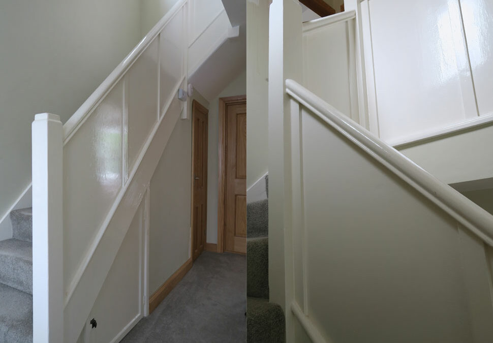 Panelled staircase renovation in Stockport, Cheshire