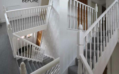 Staircase renovation in Hartford, Cheshire
