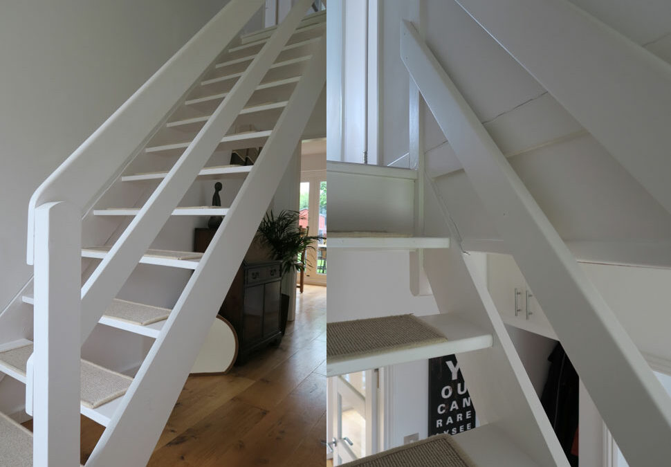 Ranch style staircase completely transformed