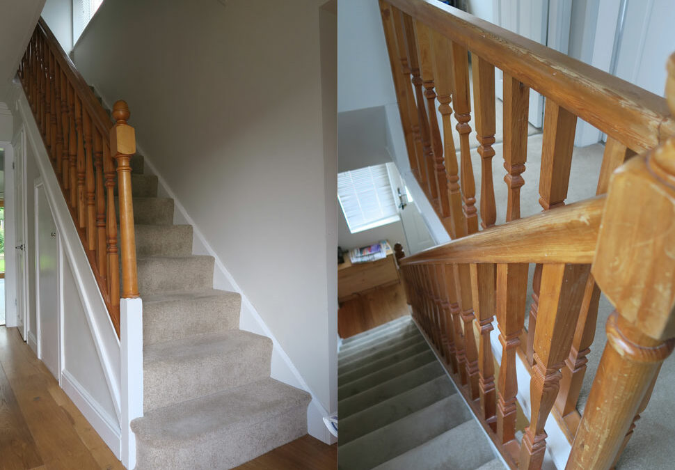 Modern oak and glass staircase renovation, Timperley Cheshire