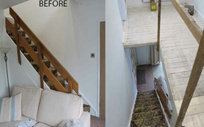 Ranch style staircase renovated in Brooklands, Sale