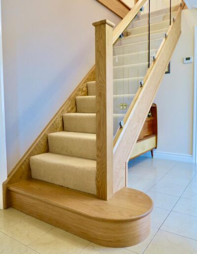 Modern oak and glass staircase renovation cheshire