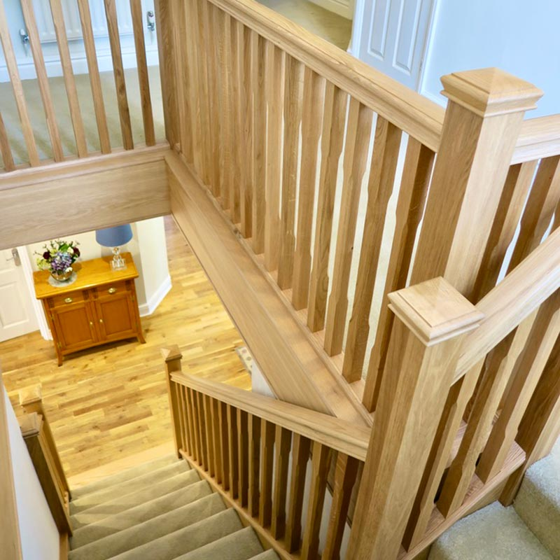 oak staircase renovation