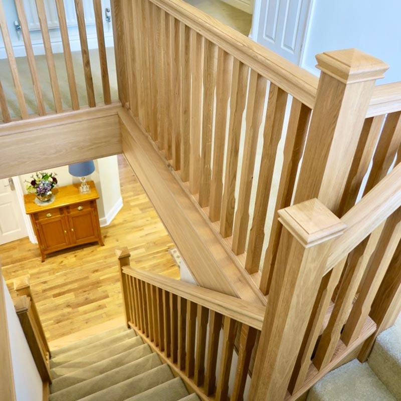 oak staircase renovation