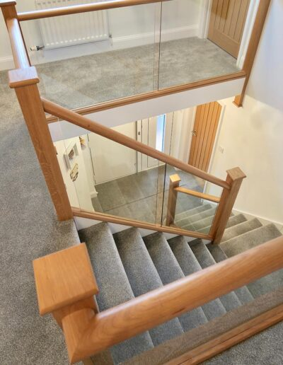 A Glass Staircase increases the feeling of space