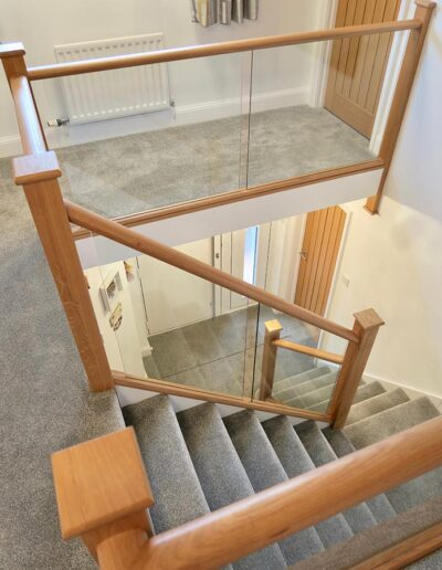 Modern In-Line Glass Staircase Renovation
