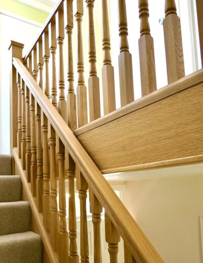 Oak Staircase Renovation with Spindles