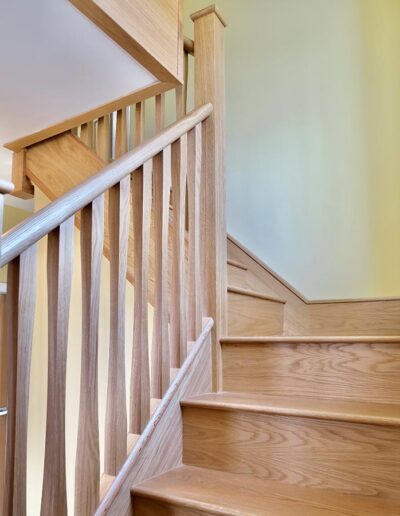 Oak Treads with Contemporary Twist Spindles